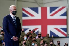Rows over Brexit and aid threaten to overshadow Boris Johnson's first meeting with Joe Biden