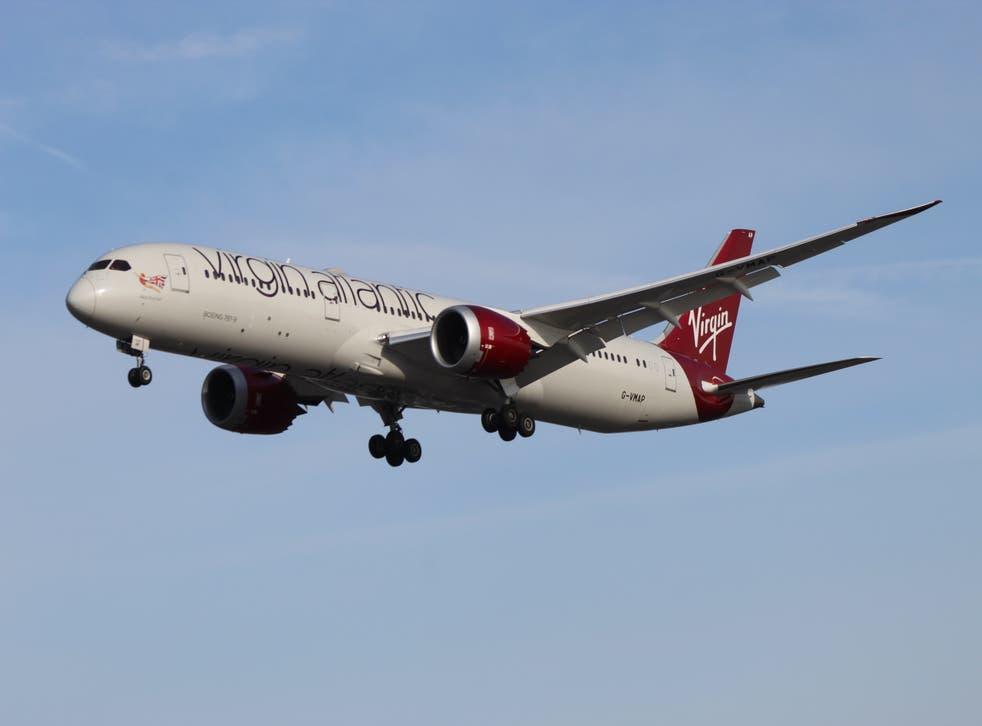 <p>Going west: Virgin Atlantic Boeing 787</p>