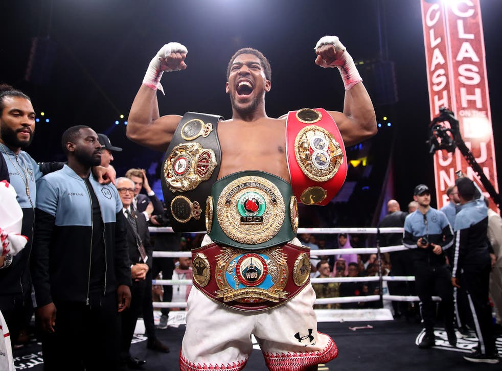 <p>Anthony Joshua is the only fighter in Hearn's stable who will not automatically make the switch from July to DAZN (Nick Potts/PA)</p>