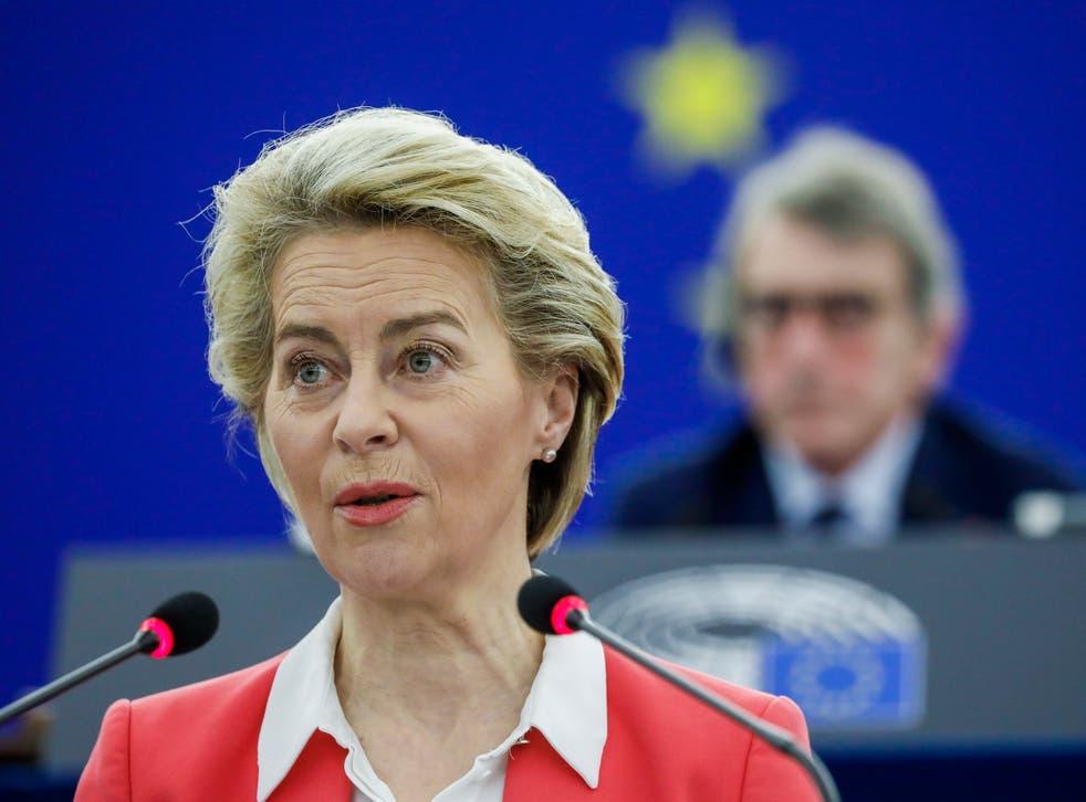<p>European Commission President Ursula von der Leyen during a plenary session at the European Parliament in Strasbourg, France, 9 June 2021</p>