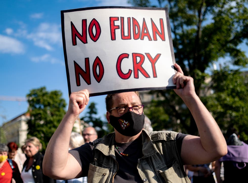 <p>Anti-government protests have hit the streets of Budapest amid a row about construction of a Chinese University </p>