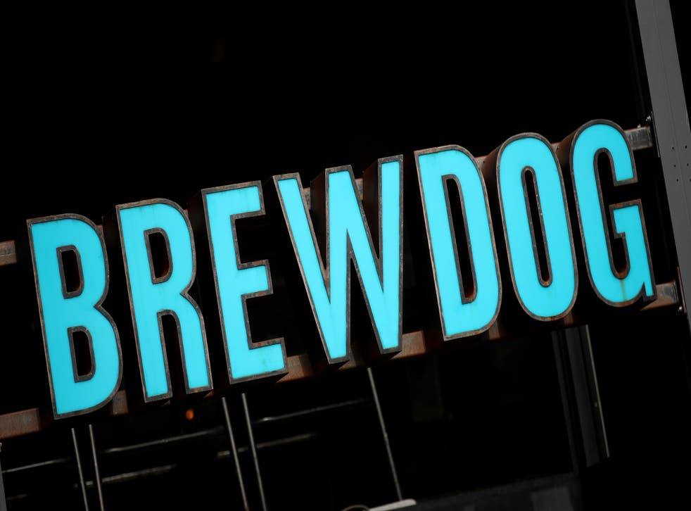 <p>A BrewDog bar sign</p>