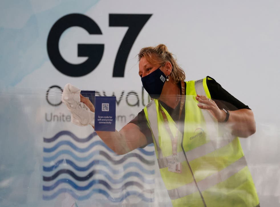 <p>In Cornwall, G7 leaders are expected to announce they will provide at least 1 billion vaccine doses to lower-income countries</p>
