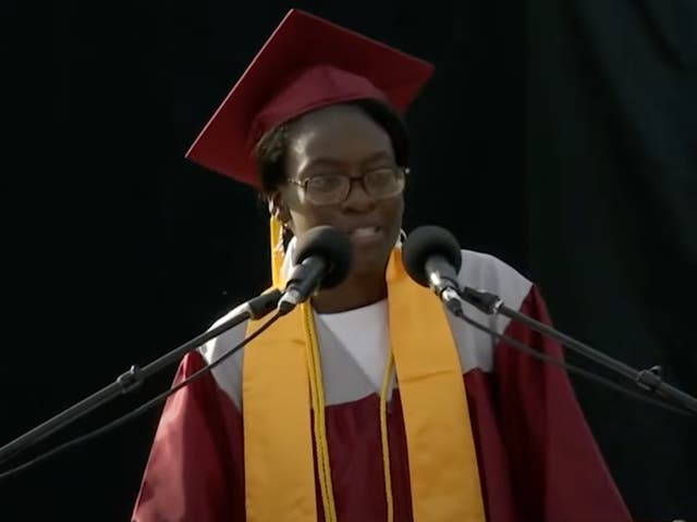 """<p>Verda Tetteh asked that her """"General Excellence"""" award be given to student going to community college. </p>"""