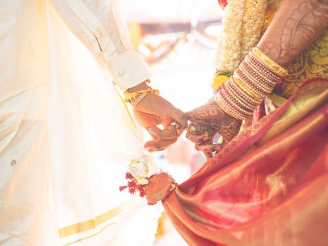<p>Hindu wedding ceremony</p>