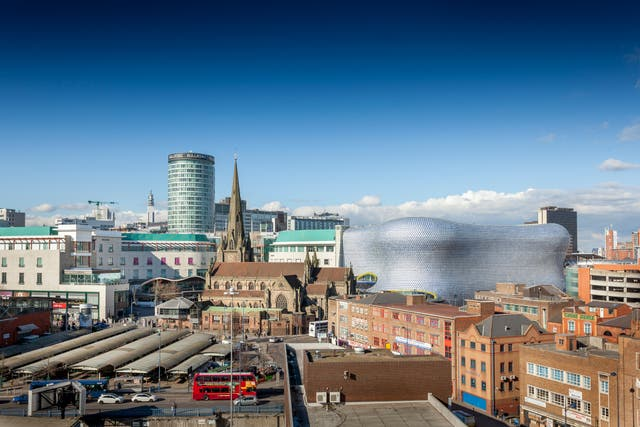 <p>Cities like Birmingham have been particularly hard hit by the pandemic</p>