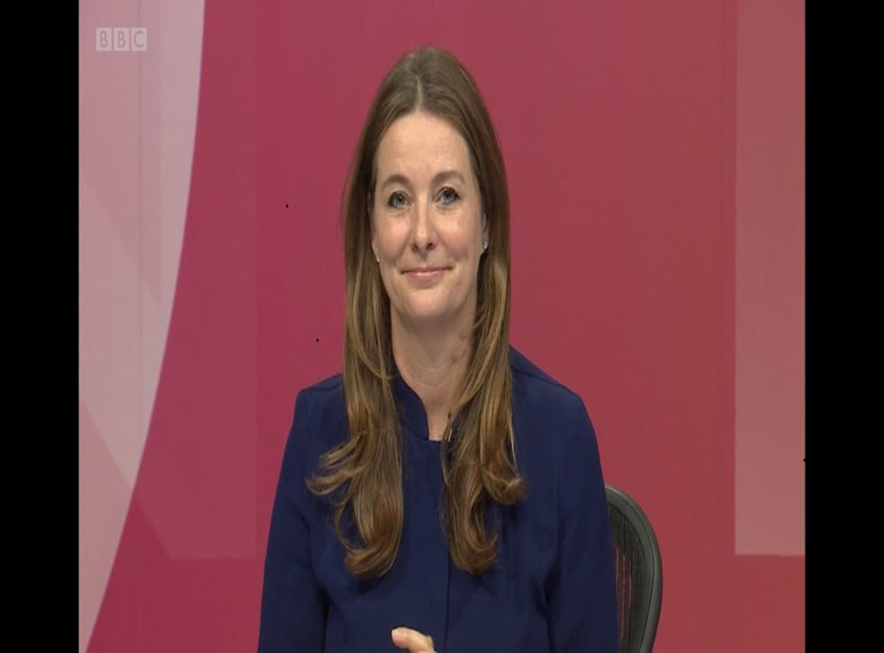<p>Gillian Keegan made her comments about 'taking the knee' on BBC Question Time</p>