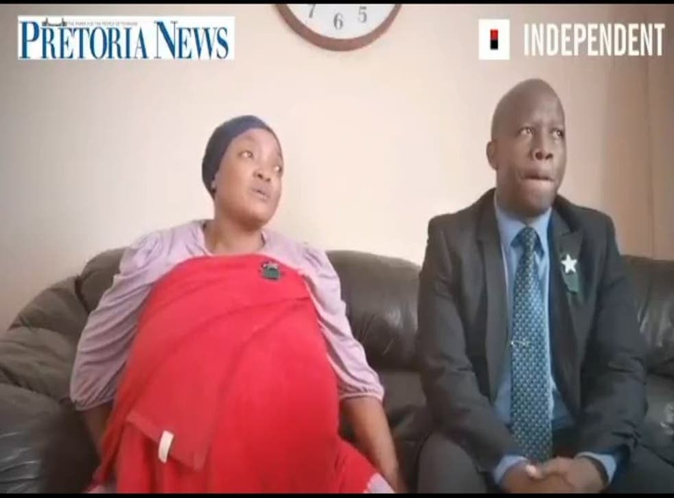 <p>A still of mother Gosiame Thamara Sithole and Tebogo Tsotetsi, before the alleged birth of 10 babies</p>