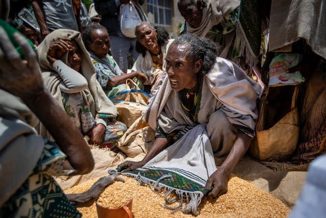 APTOPIX Ethiopia Tigray Famine Looms