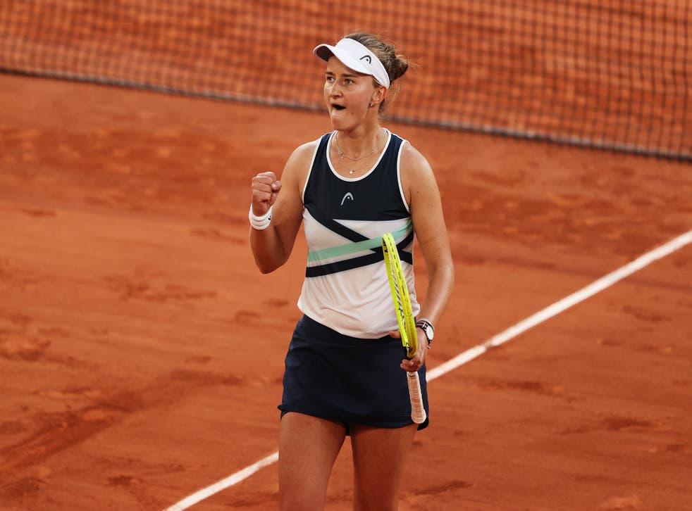 <p>Krejcikova has reached her first Grand Slam final</p>
