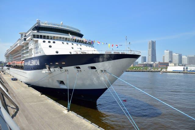 <p>The Celebrity Millennium ship on a previous voyage</p>