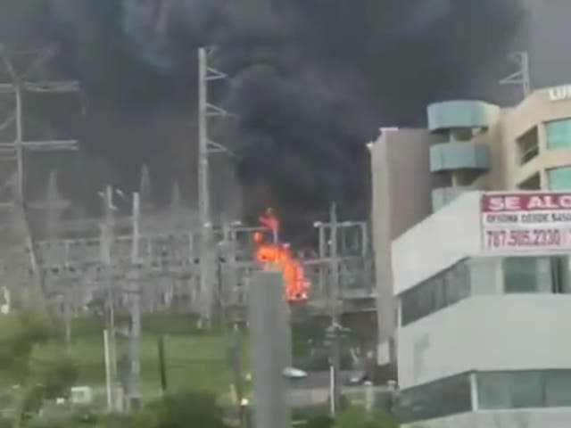 <p>A fire at a Luma power facility in Puerto Rico that knocked out power for 800,000 customers</p>