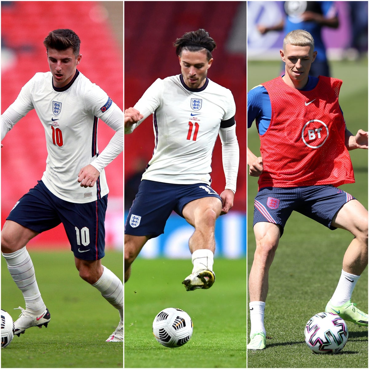 Mount, Foden and Grealish can be key England figures, Kyle Walker claims