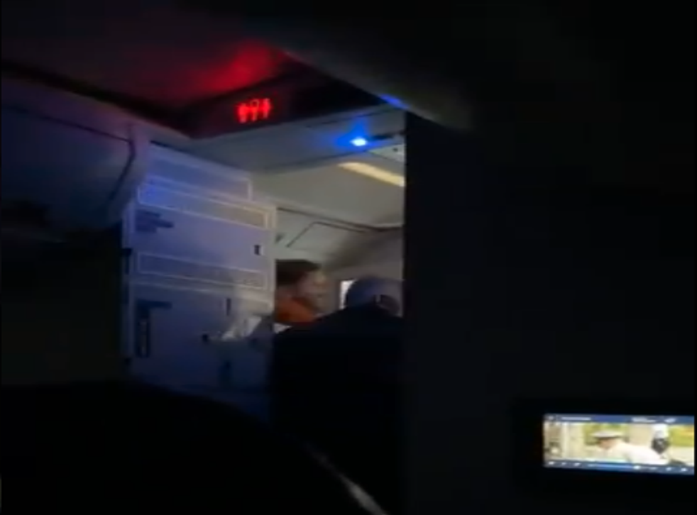 <p>A passenger attempted to open plane door mid-flight</p>