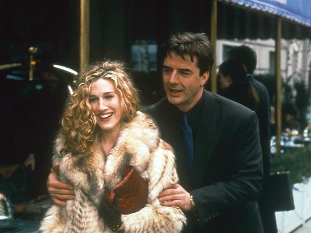 <p>Sarah Jessica Parker and Chris North in the original series of Sex and the City</p>