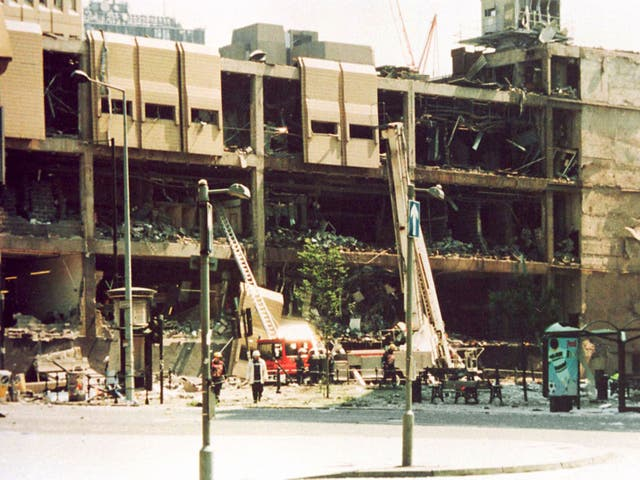 <p>An army bomb disposal robot was working on defusing the device when, at 11.17am on 15 June 1996, time ran out</p>