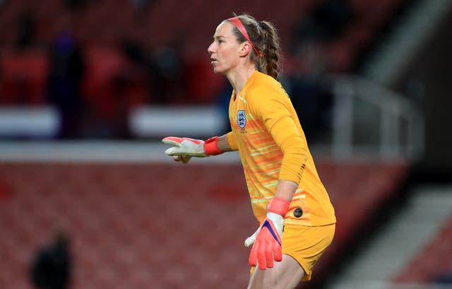 <p>Karen Bardsley in action for England</p>
