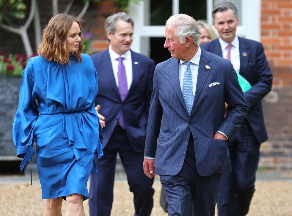 <p>Stella McCartney and Prince Charles</p>