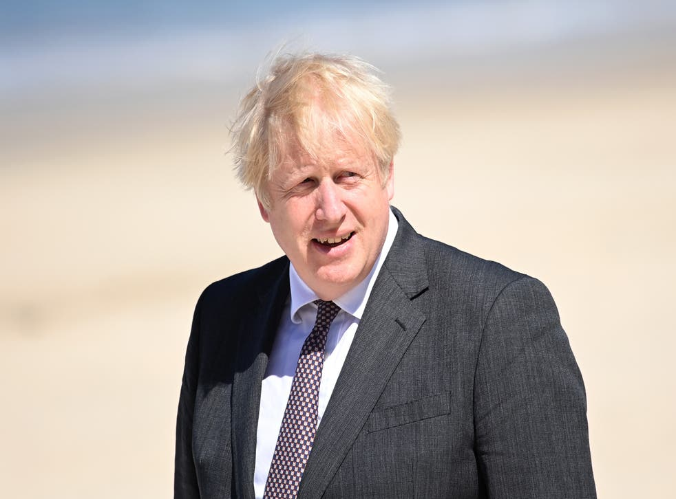 <p>Boris Johnson launched a £500m Blue Planet Fund - but was accused of 'reheated soundbites'</p>