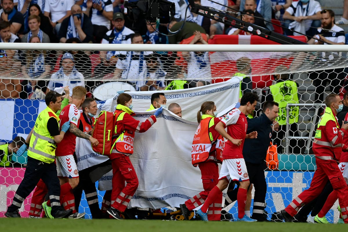 Eriksen collapses during Euro 2020 game