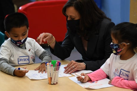 Kamala Harris appoints her own 'vice president': A little boy who admired her VP pin