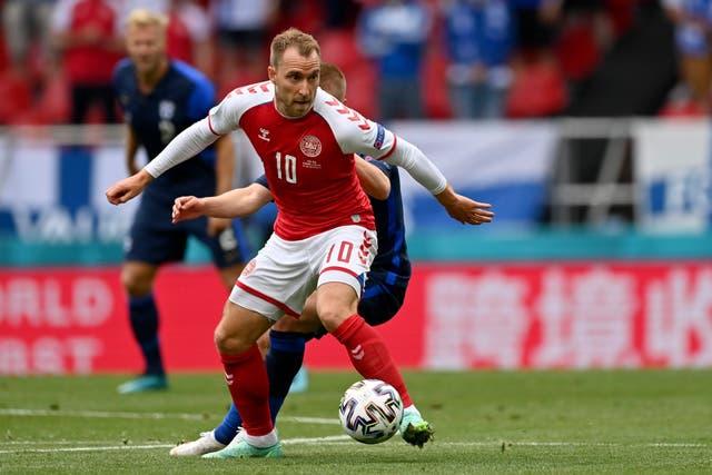Denmark's Christian Eriksen