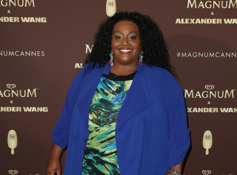 <p>Alison Hammond attends the Magnum VIP Party during the 71st annual Cannes Film Festival </p>