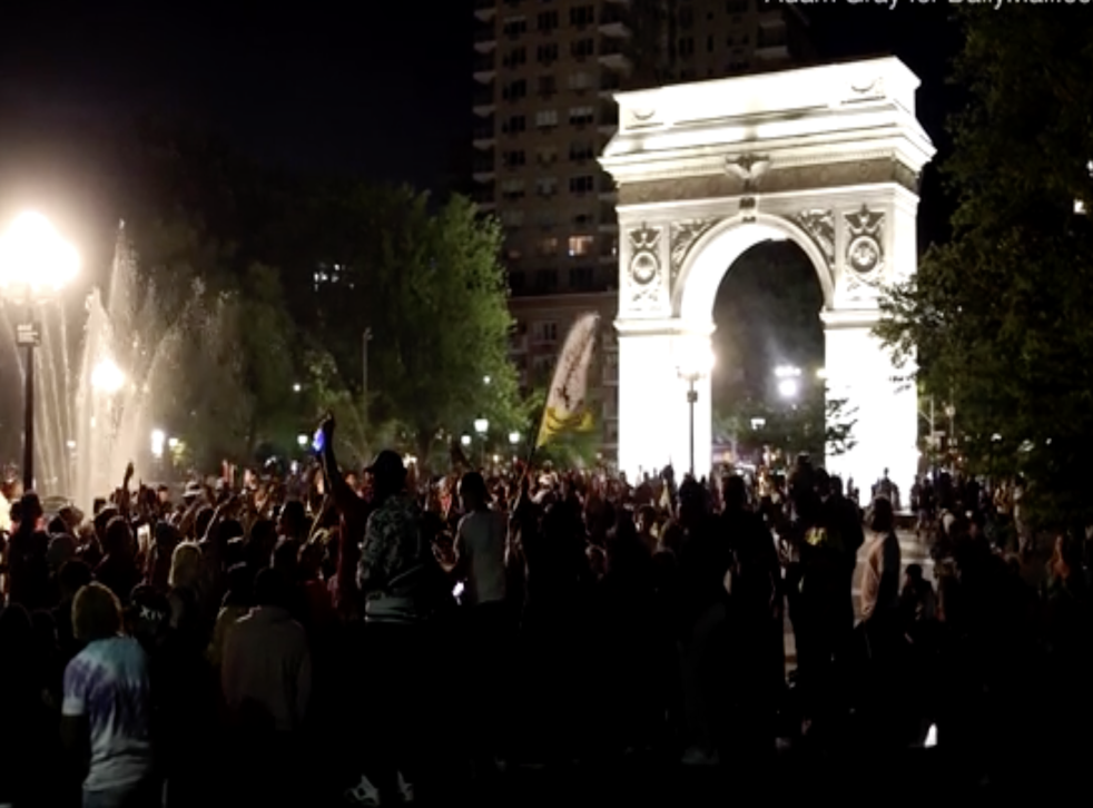 <p>Party in Washington Square Park led to injuries and complaints from neighbours</p>