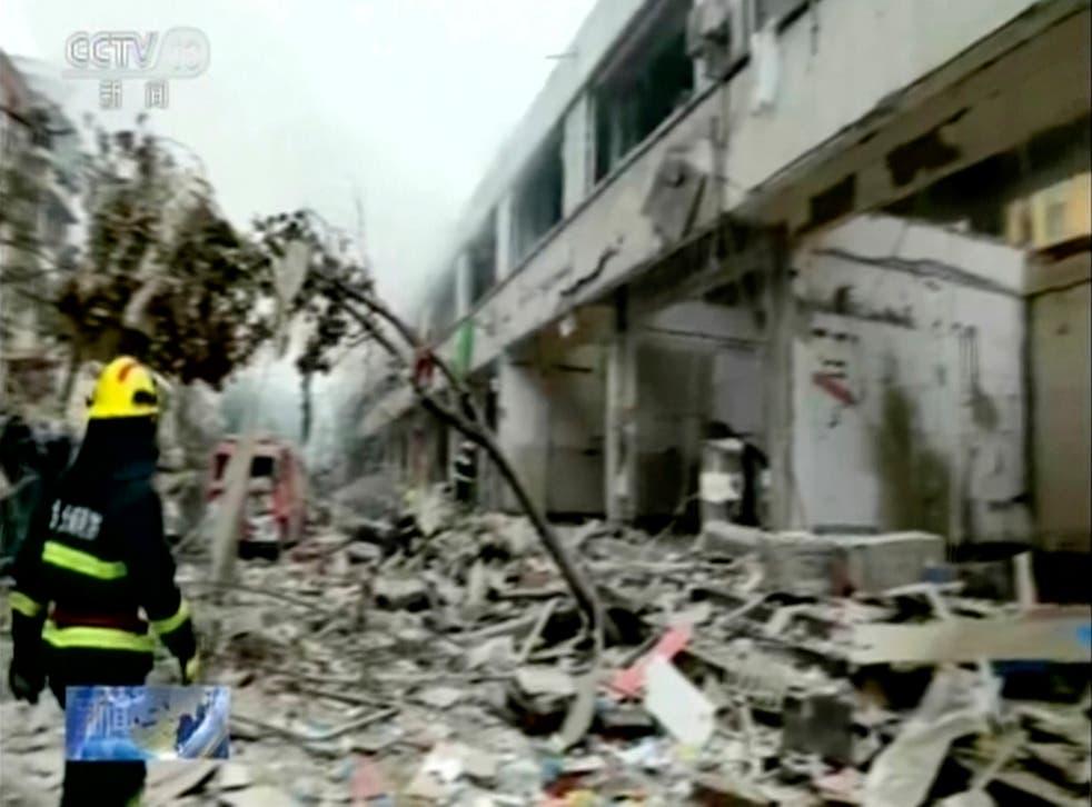 CHINA-EXPLOSION DE GAS