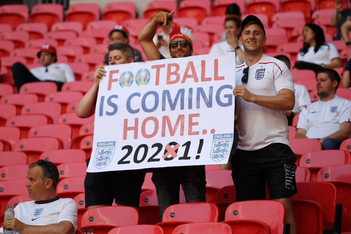 Wembley capacity for Euro 2021: How many fans are there for England vs  Croatia? | The Independent