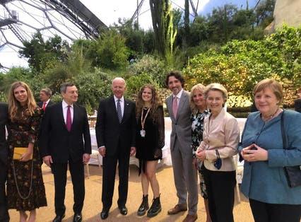 Daisy Clark with G7 leaders