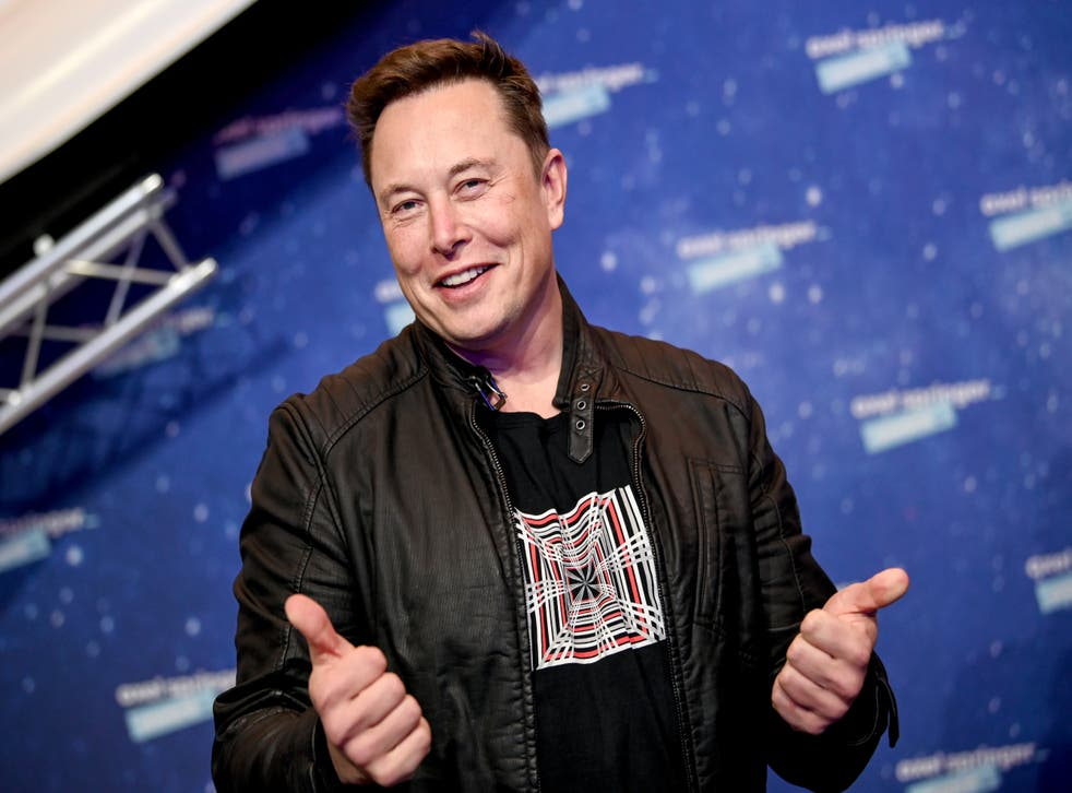 <p>SpaceX and Tesla chief Elon Musk poses on the red carpet of the Axel Springer Award 2020 on 1 December, 2020 </p>