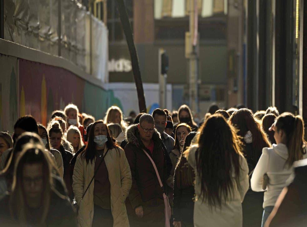 People shopping in Belfast