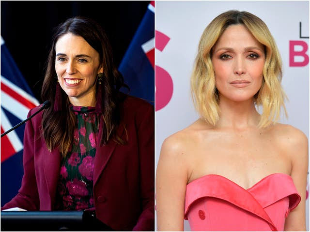 <p>Rose Byrne (right) will reportedly play Jacinda Ardern in the project</p>