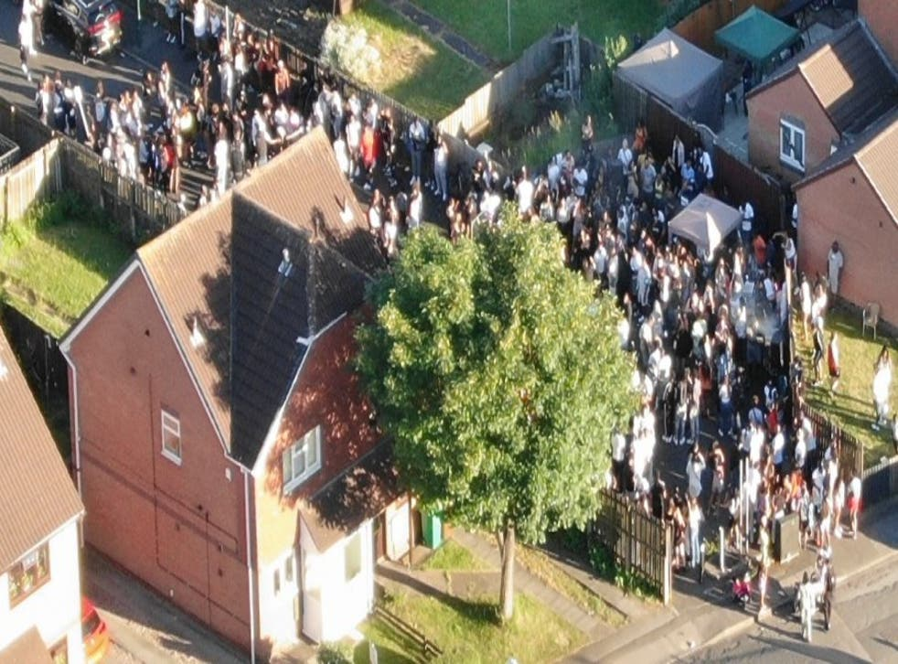 <p>A large group of people attended the illegal gathering in Nottingham</p>