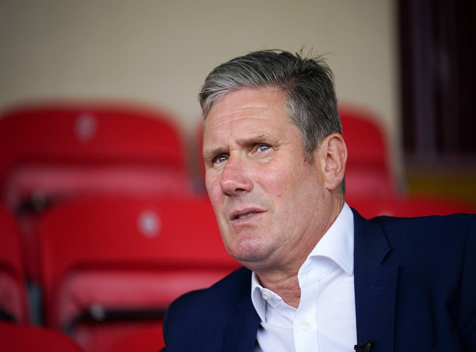 <p>Keir Starmer at the Batley Bulldogs rugby league stadium ahead of the 1 July by-election</p>