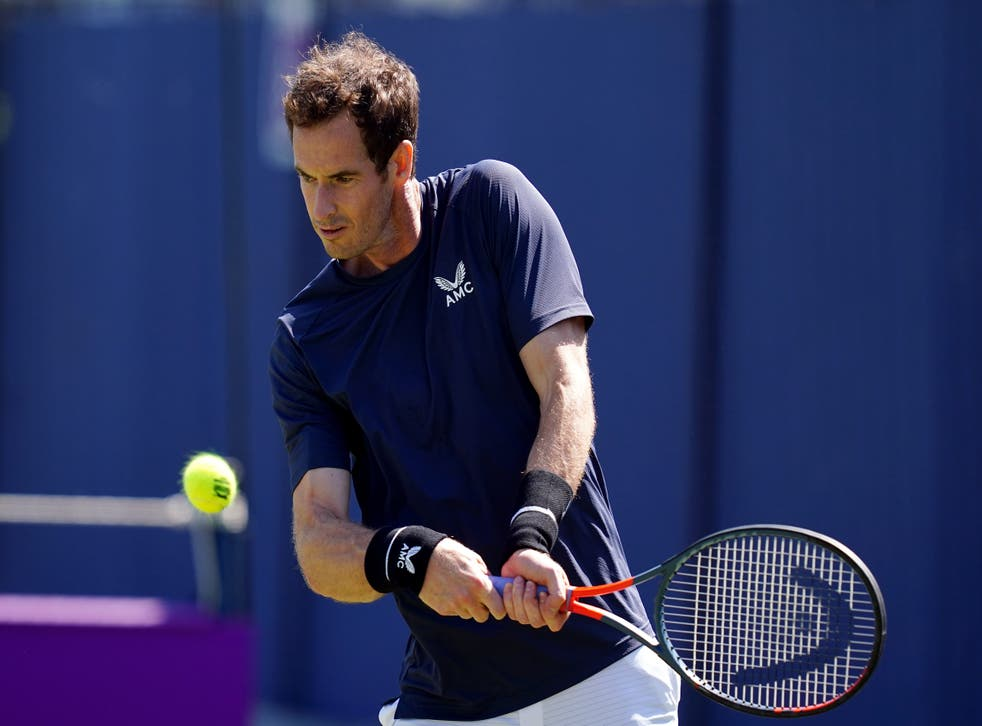 <p>Andy Murray is back at Queen's Club</p>