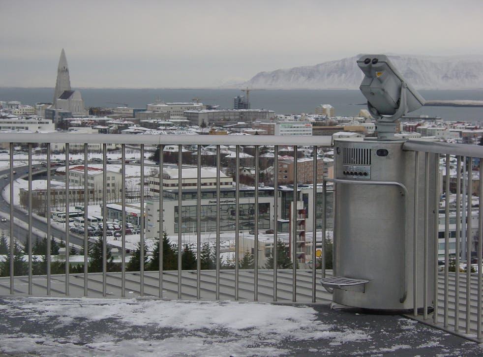 <p>Grey skies: Reykjavik, capital of Iceland</p>