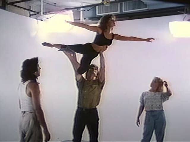 <p>Patrick Swayze and Jennifer Grey during a screen test for Dirty Dancing</p>