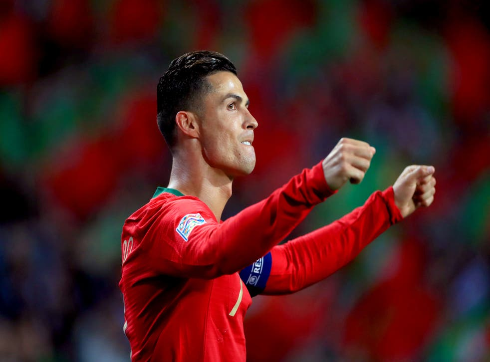 <p>Portugal skipper Cristiano Ronaldo will become the first man to play at five Euros tournaments</p>