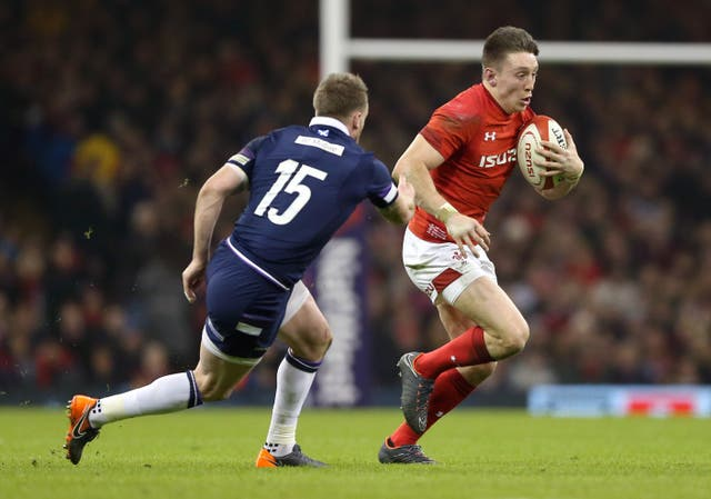 Josh Adams (right) is relishing the chance to play with Stuart Hogg (left)