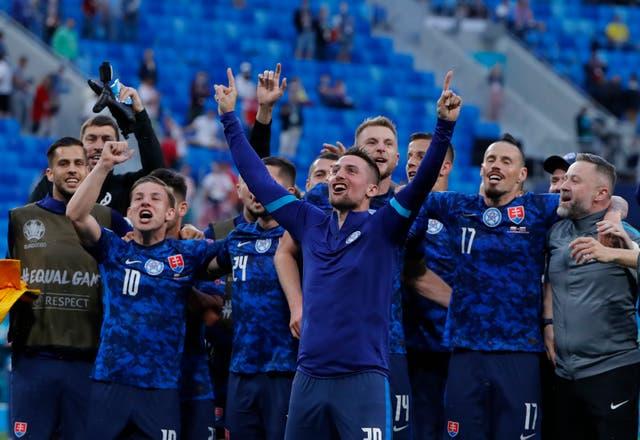 <p>Slovakia claimed a famous win over Poland</p>