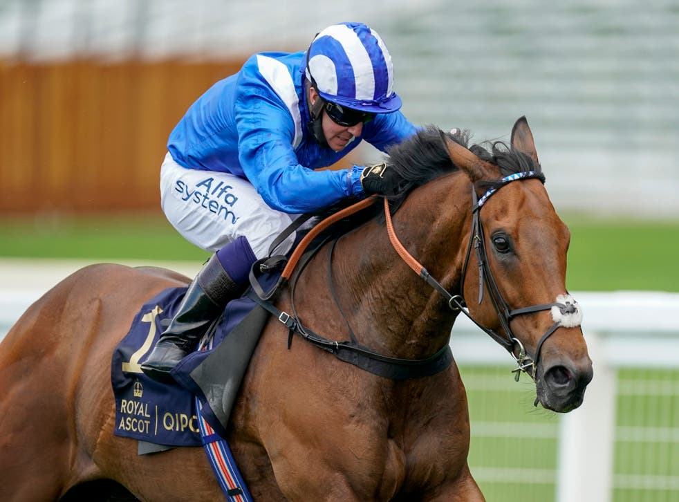 <p>Battaash and Jim Crowley will be a familiar sight if they win a second successive King's Stand Stakes at Royal Ascot</p>