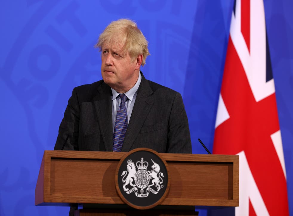 <p>Boris Johnson announced on Monday the lockdown exit would be delayed</p>