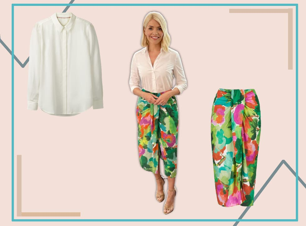 <p>Holly's skirt today will brighten up your wardrobe no end</p>