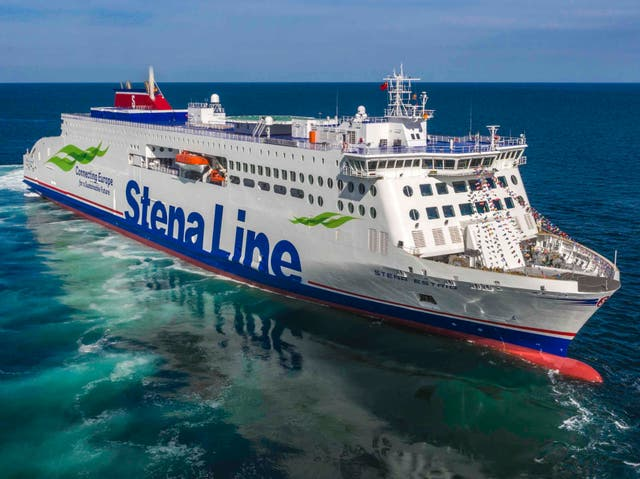 <p>New horizon: Stena Estrid will operate the first ferry link between Holyhead and Belfast</p>