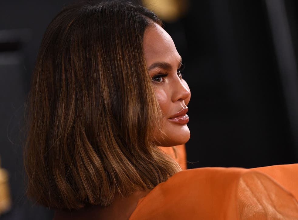 <p>'Try as she might to be ordinary, she demonstrably isn't': Chrissy Teigen in 2020</p>