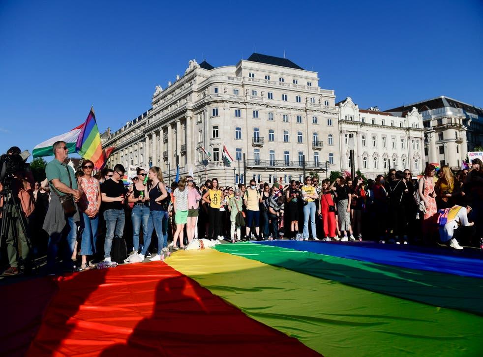 Hungary LGBT Demonstration