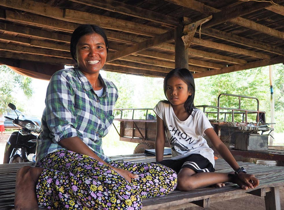 """<p>Morb Neam, a 37-year old Cambodian, has been traveling back and forth to Thailand since her childhood, after each wave of bad weather. """"We were very poor and my sister had no money to pay for my school, so I left early,"""" she says. Morb has gone back to her home village in Cambodia, in the Khmer province of Banteay Meanchey, to take care of her children and ensure they get a good education. She can't read nor write.</p>"""