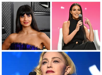 <p>Jameela Jamil, Kim Kardashian and Madonna thoroughly annoyed the public during the pandemic</p>